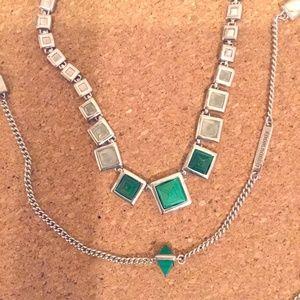 2! EDDIE BORGO silverplate/gemstone necklaces